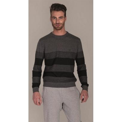 Blusão tricot com listras
