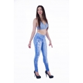 Legging jeans digital desgastada